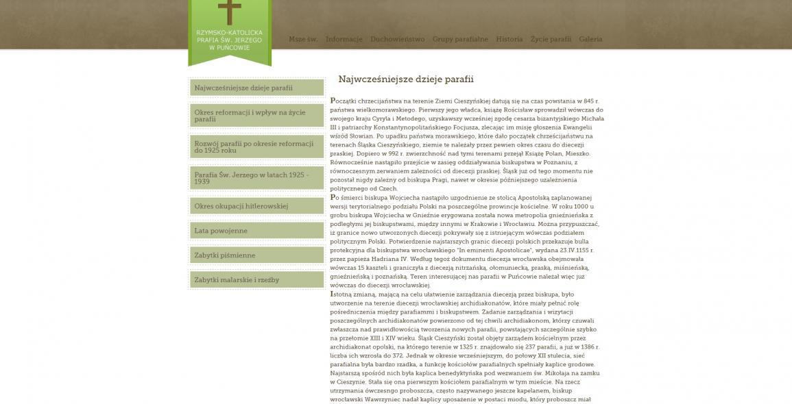 puncowparafia pl - the parish website   Tomasz Nicieja